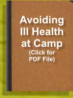 Avoiding Ill Health at Camp (Click for PDF File)
